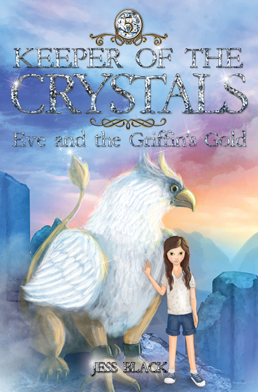Eve and the Griffin's Gold  Eve knows that the life of a crystal keeper is filled with danger, but this time it's close to home. When Eve's Grandmother and her best friend Oscar visit Eve at home, a griffin calls for their urgent help. In Dracburn, the griffins are terrorised by greedy one-eyed men who will do anything for gold. Can Eve and Oscar – and Eve's kindred animal, the dragon Ingvar – stop the one-eyed army before life on Dracburn is wiped out forever?