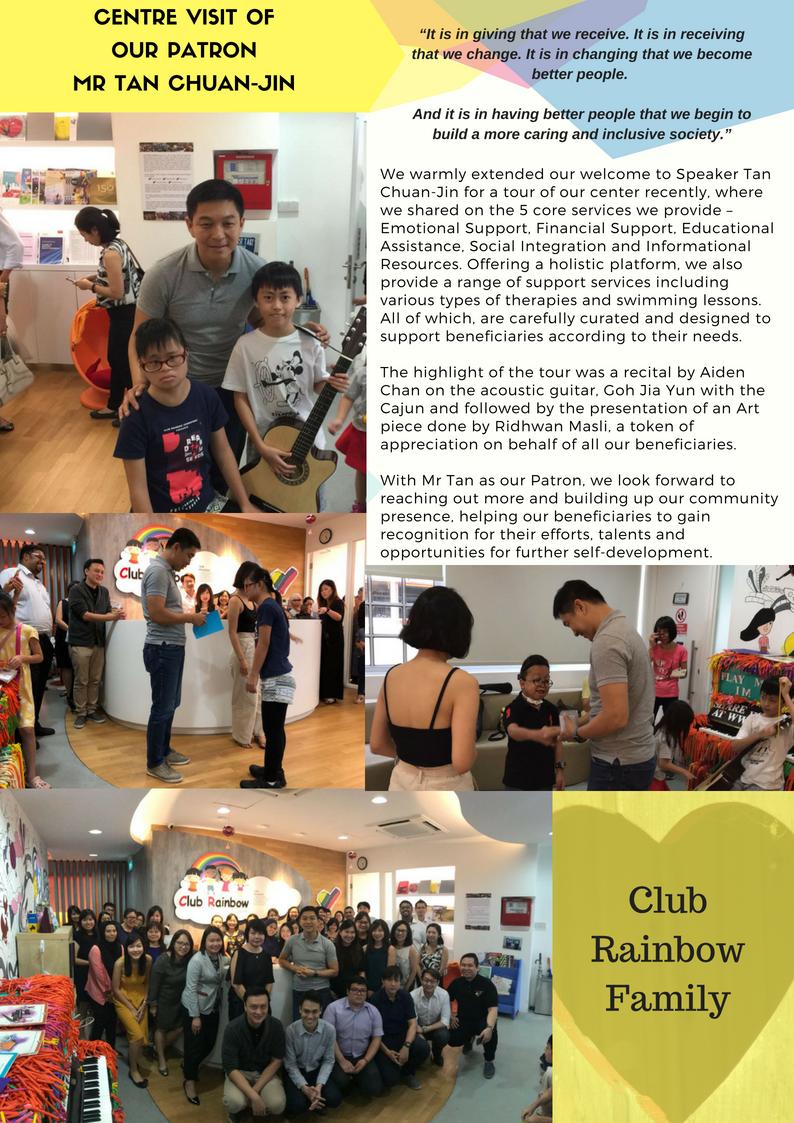 Centre Visit Patron Tan Chuan-Jin