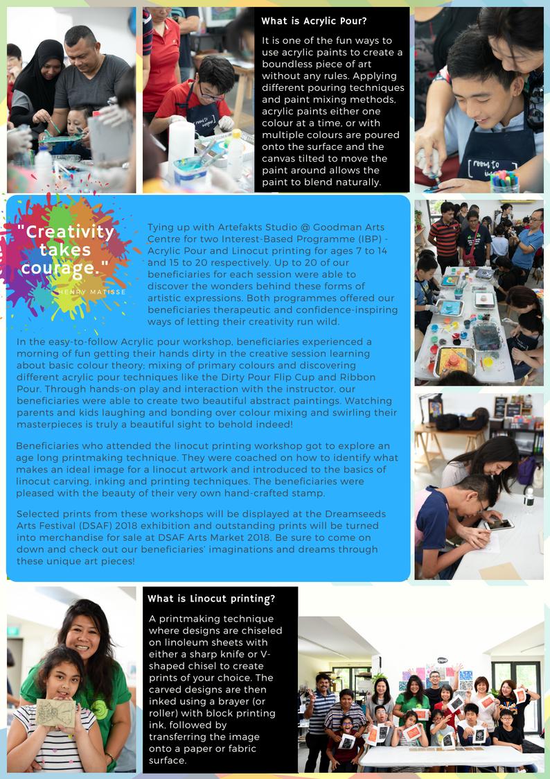 Visual Arts Workshops