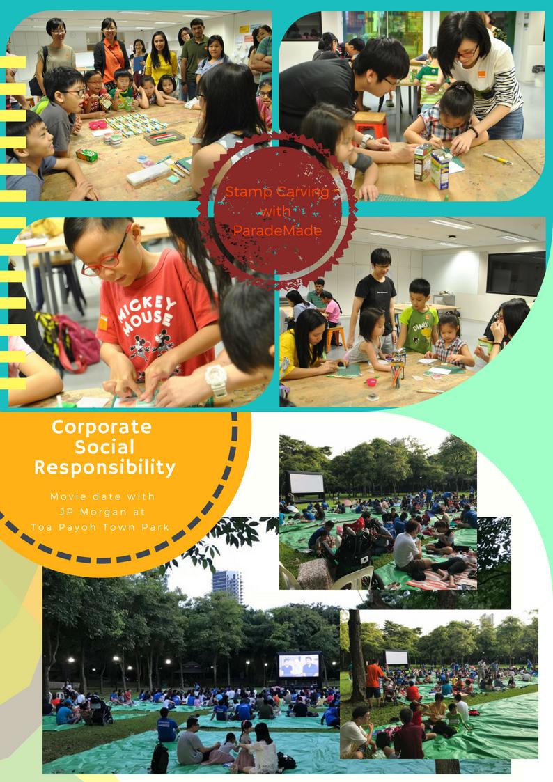 CSR activity with JP Morgan and Workshop