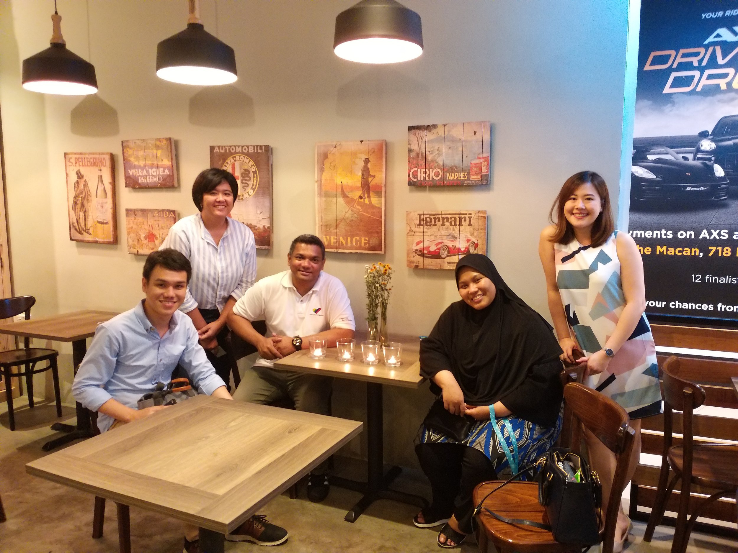 Nurul and her team of social workers from Club Rainbow (Singapore)