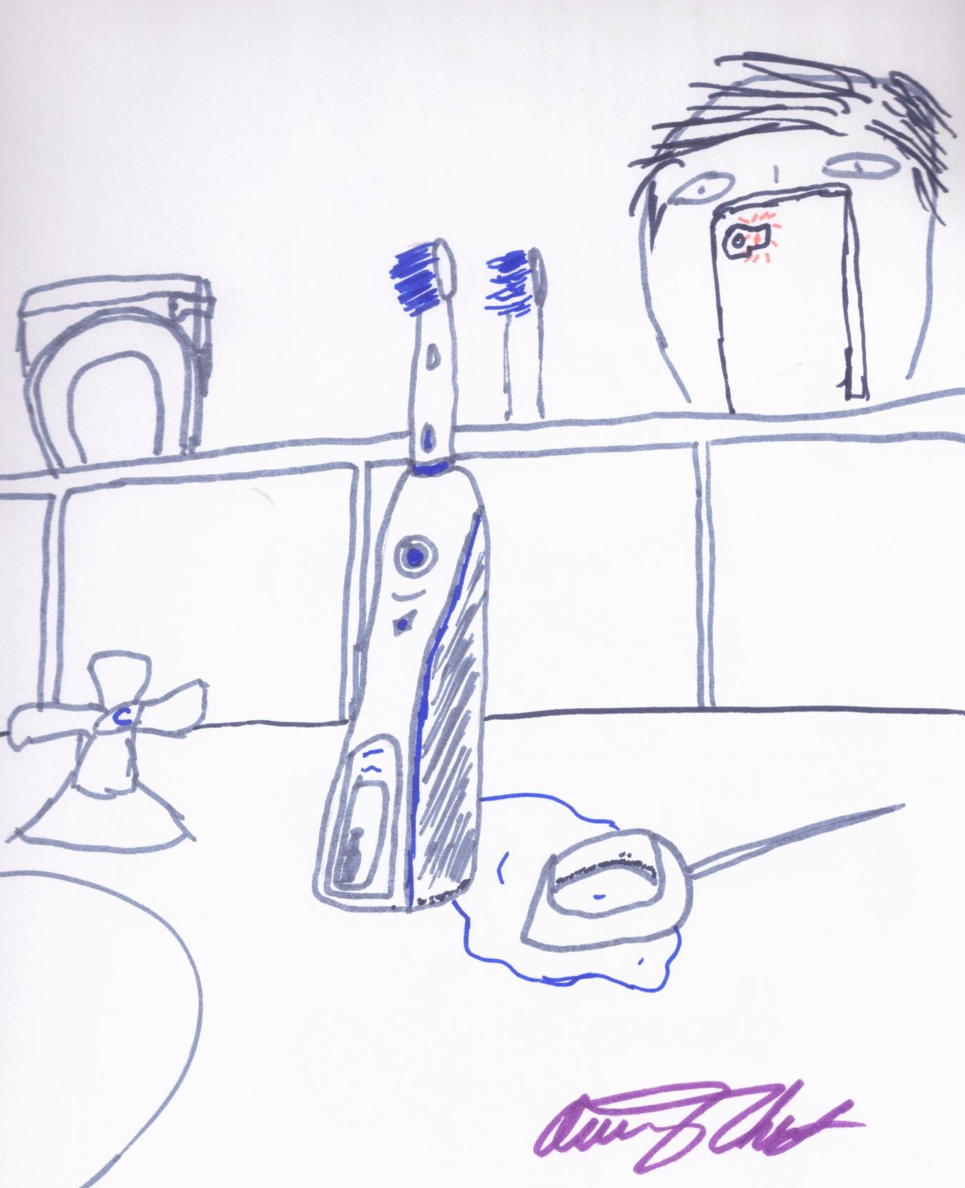This is a photo I took of the electric toothbrush!