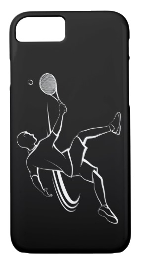 Male Tennis Player Volley iPhone 7 Case