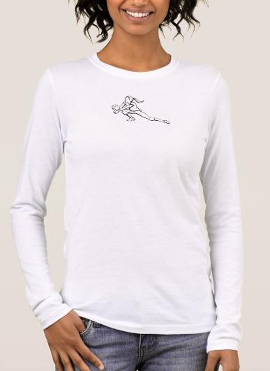 Girl Volleyball Dig Women's Long Sleeve T-shirt