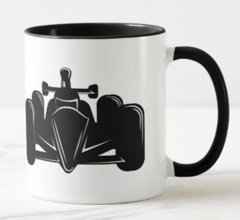 Indy Style Race Car Two-Tone Mug