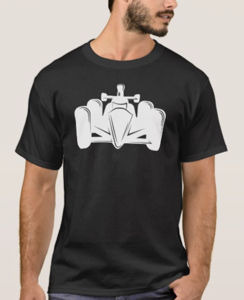 Indy Style Race Car Dark T-shirt