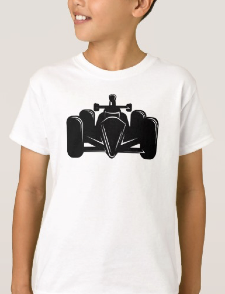 Indy Style Race Car Kid Light T-shirt