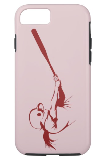Girl Softball Hitter iPhone Case