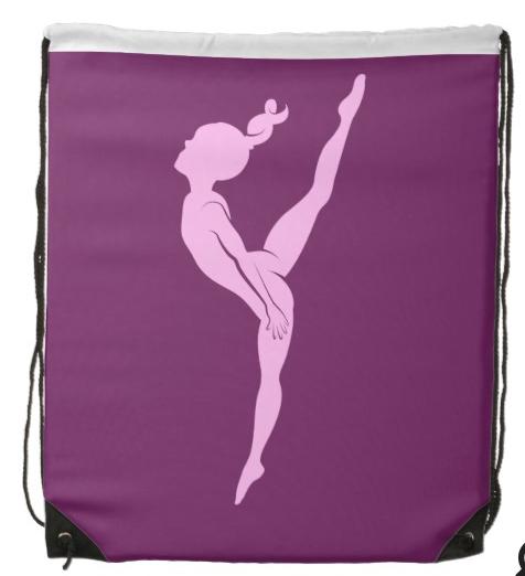 Girl Gymnast Drawstring Backpack