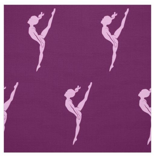 Pink Girl Gymnast Purple Fabric