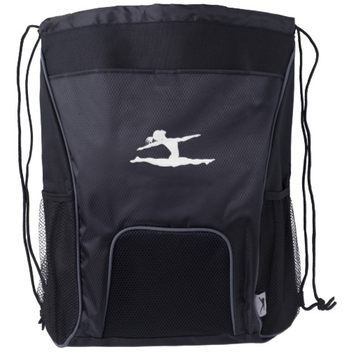 Gymnast Split Silhouette Drawstring Backpack