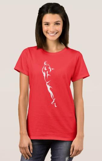 Woman Basketball Layup T-Shirt