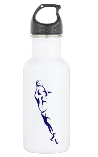Woman Basketball Layup Water Bottle