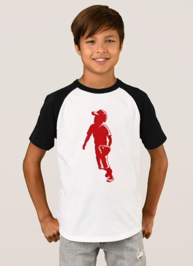 Youth League Baseball Fielder T-Shirt