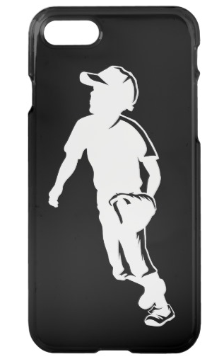 Youth League Baseball Fielder iPhone Case