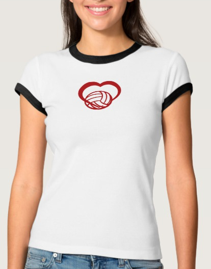 Volleyball Heart Ringed Tee