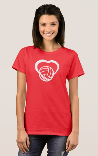 Volleyball Heart T-Shirt