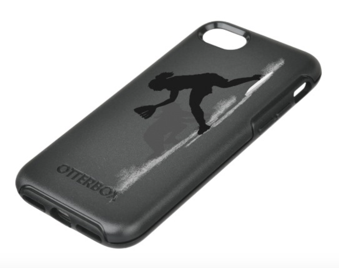 Softball Pickoff OtterBox Symmetry iPhone Case