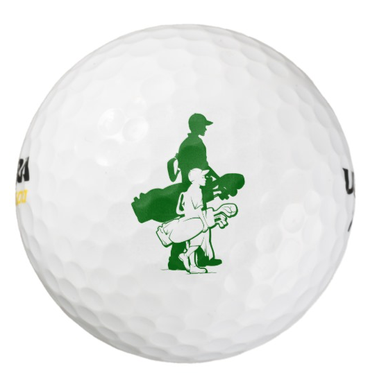 Father and Son Golfing Golf Balls