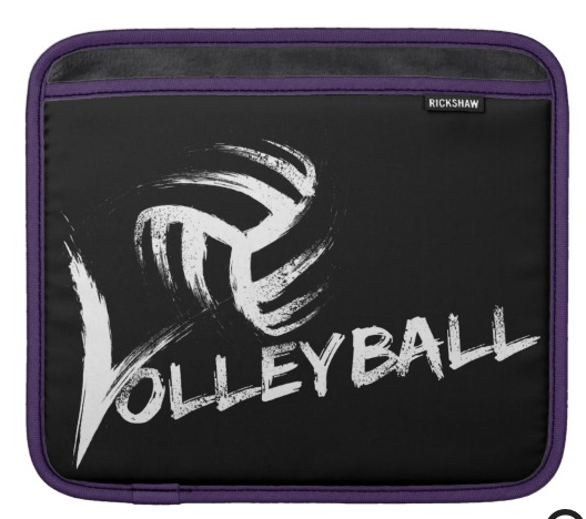 Volleyball Grunge Streak iPad Sleeve