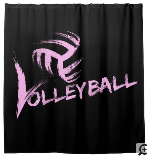 Volleyball Grunge Streaks Shower Curtain