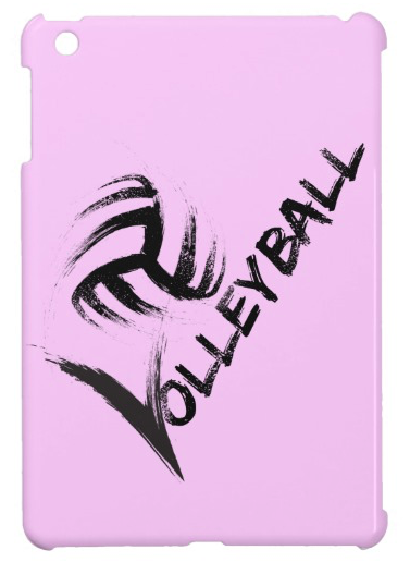 Volleyball Grunge Streak ipad mini case