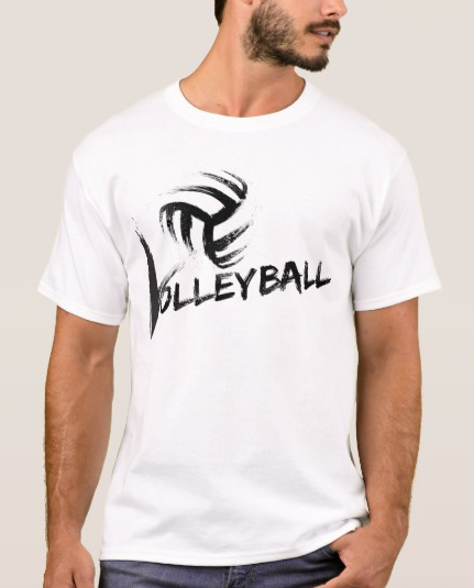Volleyball Grunge Streaks T-Shirt