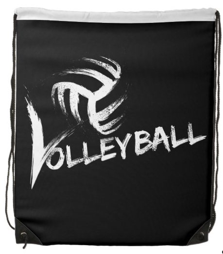 Volleyball Grunge Streaks Drawstring Bag