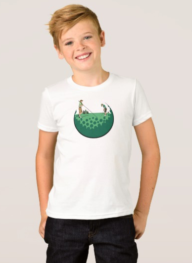 Father & Son On Putting Green T-Shirt