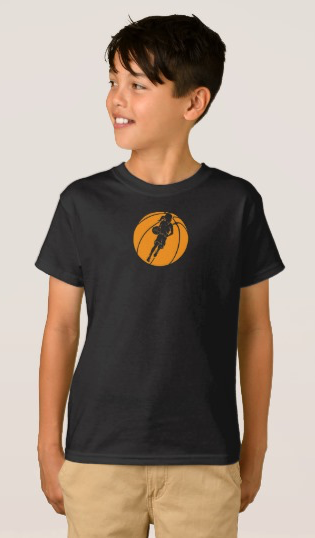 Basketball Girl Dribbling in Basketball T-Shirt