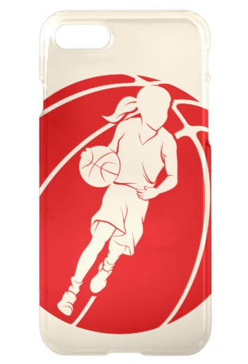 Basketball Girl Dribbling in Basketball iPhone Case