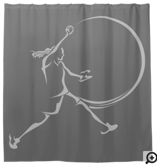 Softball Pitcher Shower Curtain