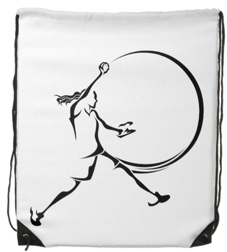 Softball Pitcher Drawstring Bag
