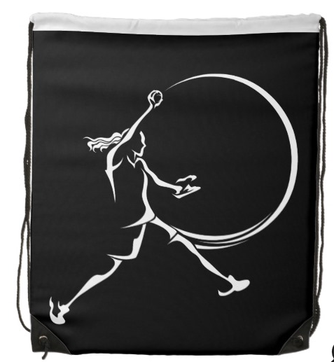 Softball Pitcher Drawstring Backpack