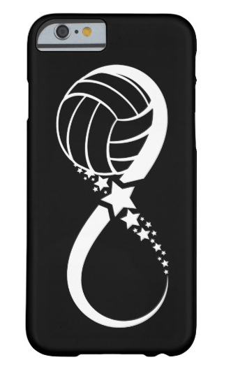 Volleyball Star Infinity Barely There iPhone Case