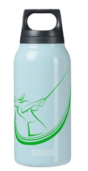 Golf Swing Girl Golfer Insulated Water Bottle