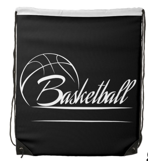 Basketball Banner Drawstring Backpack