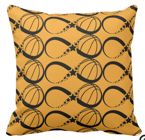 Basketball Star infinity Square Pillow