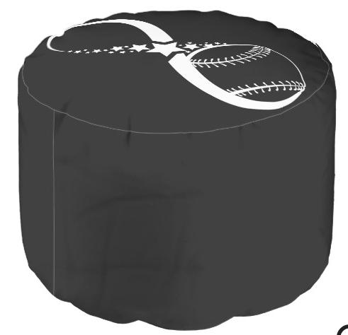 Baseball or Softball Infinite Star Pouf