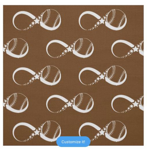Softball or Baseball Star Infinity Fabric
