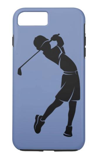 Boy Golfer Silhouette PhoneCase