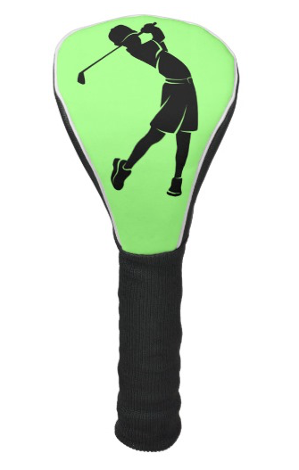 Boy Golfer Silhouette Golf Head Cover