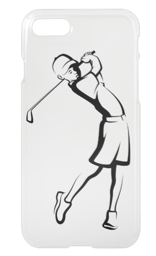 Boy Golfer Clear Phone Case
