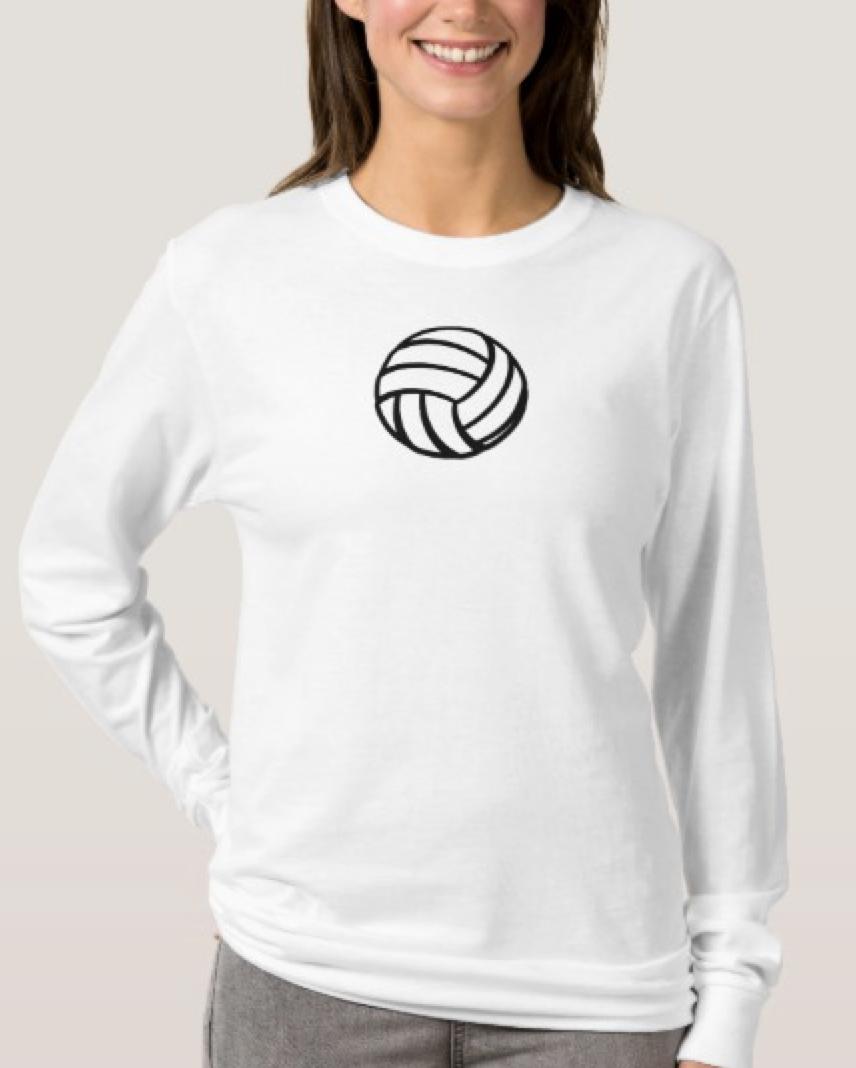 Stylized Volleyball T-Shirt