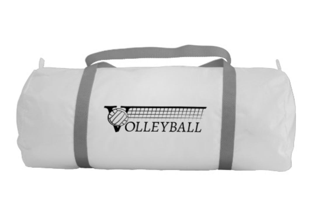 Volleyball V and Net on Gym Bag