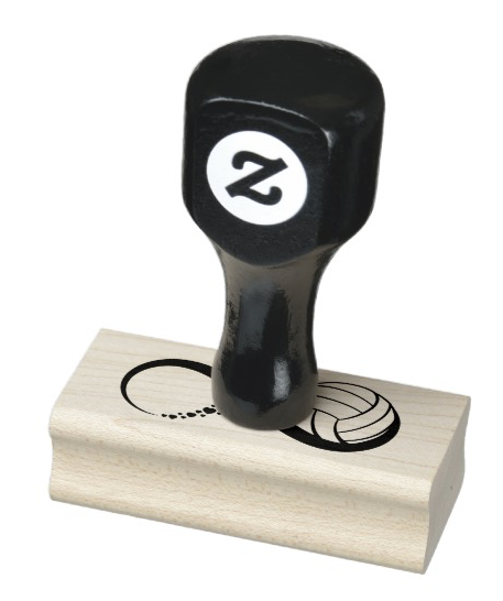 Volleyball Love Infinity Rubber Stamp