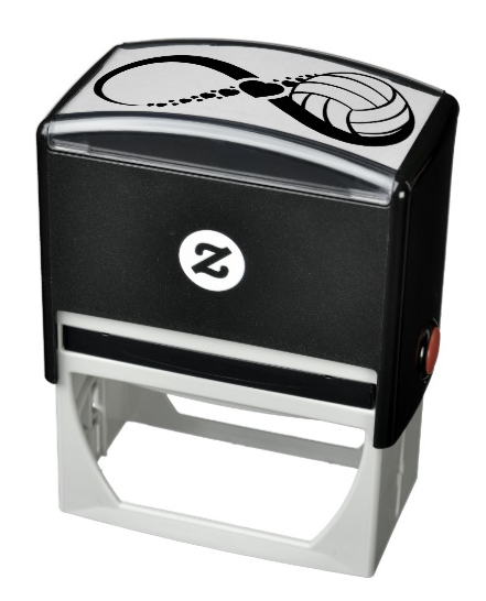 Volleyball Love Infinity Self-inking Stamp