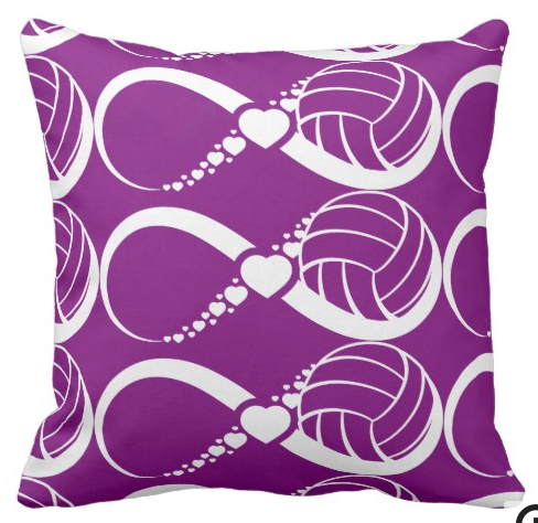 Volleyball Love Infinity Square Pillow