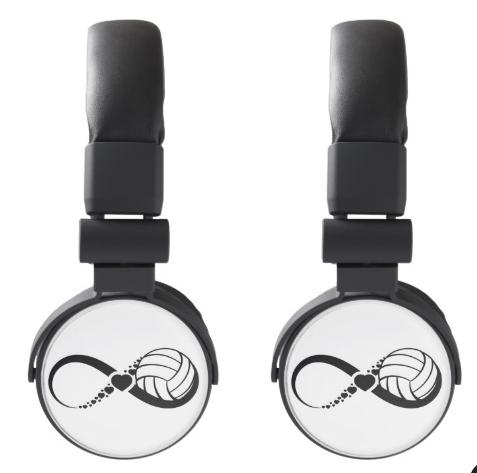 Volleyball Love Infinity DJ Style Headphones