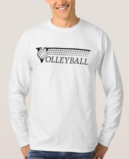 Volleyball Net with Text T-Shirt
